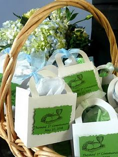 1st communion  party gift boxes