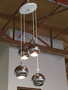 Vintage Three Globe Chandelier  Works  Dealer #1872  $350  Lost. . .Antiques 1201 N. Riverfront Blvd. Dallas, TX 75207  Monday - Saturday: 10am - 5pm Sunday 11am - 5pm  Find it all at L