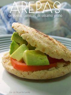 Cocina de Muerte Lenta: Arepas de Avena, Semillas de Sésamo y Lino