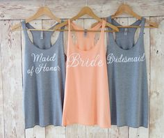 Bride Tank Maid of Honor Tank Bride Shirt Bachelorette Party Shirts Eco White Font by TheLittleBridalShop on Etsy (null) Bride Tank Tops, Bride Shirts, Bridesmaid Tank Tops, Party Hard, Party Time, Bachelorette Party Shirts, Bachelorette Cruise, Bridal Party Shirts, Wedding Shirts