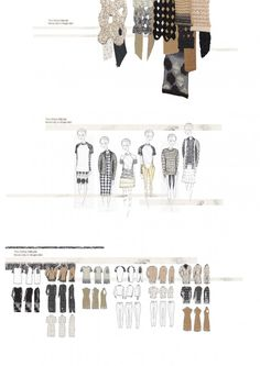 Fashion Sketchbook - knitwear design development for Chloe project; fashion illustration; fashion portfolio // Hope Hudson