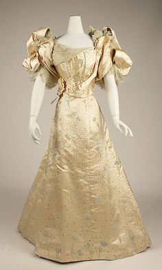 Ball Gown, House of Worth 1893, French, Made of silk