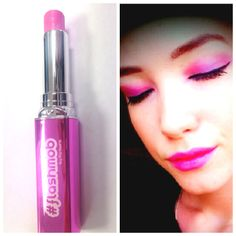 A happy customer in 'Seeing Fireworks' lipstick