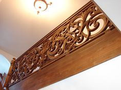 2 Oak carved stairs balustrade by my friends (just inner frames)