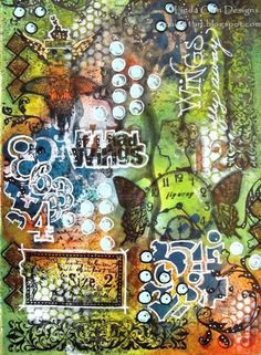 PaperArtsy: Linda Cain #4 If I Had Wings Journal .... great tutorial