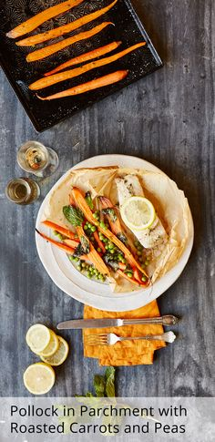 I really want to try cooking the pollock in the parchment. The carrots looks delicious too. #plated