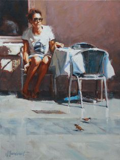 Waiting for a friend #4 | oil on linen painting by Richard van Mensvoort