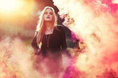 Smoke Bomb Portrait Photography
