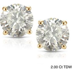 Auriya 18k Yellow Gold Clarity-Enhanced Diamond Solitaire Stud... (11,045 MXN) ❤ liked on Polyvore featuring jewelry, earrings, accessories, studs, brincos, 14k gold earrings, diamond stud earrings, screw back diamond earrings, yellow gold stud earrings and 14k stud earrings