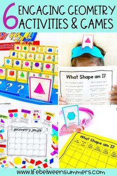 Teaching geometry doesn't have to be boring. In this blog post, I share my top favorite geometry activities you can use in your K-3 classroom. You can use these hands-on geometry activities and games during math workshop, small groups, and math centers. Help students to learn about 2D shapes and 3D shapes with a shape scavenger hunts. You can also use my shape books for kindergartners and first graders. Have fun exploring and building shapes!