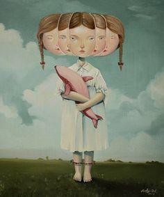 As surreais e macabras pinturas de Roby Dwi Antono