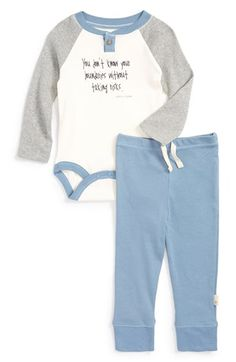 Burt's Bees Baby Organic Cotton Bodysuit & Pants Set (Baby Boys) available at #Nordstrom