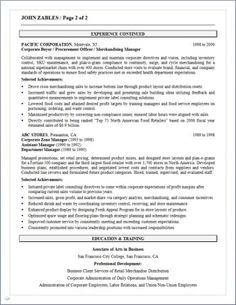 business developmentprocurement senior manager resume page 2 - Procurement Resume