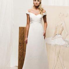 [129.07€] Robe De Mariée épaule Dégagée Mousseline Polyester Mancheron Chic & Moderne Simple Modeste