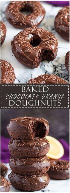 Baked Double Chocolate Orange Doughnuts