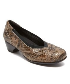 Taupe Snake-Print Patsy Leather Pump