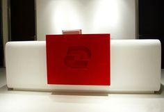 Solid Surface Reception Desk TW-PART-001