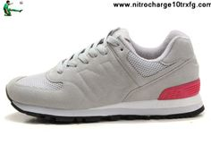 Cheap Discount New Balance NB WS574GP Sonic Grey Pink Red For Women shoes