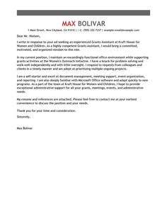 administrative assistant cover letter example find free grant info at topgovernmentgrantscom - Cover Letter Examples Admin Assistant