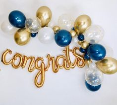 Virtual Graduation Party, Graduation Balloons, Congrats Balloon Garland, Graduation