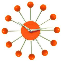 Orange Ball Clock Clocks Retro You Glad Cool