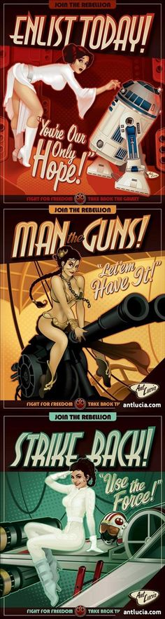 star wars pin up posters,