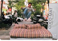 Bed Jumping COCO-MAT - I've always wanted to do this...