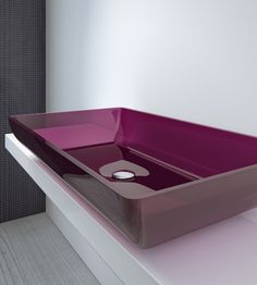 Countertop washbasin BIG by Regia | #design Bruna Rapisarda #bathroom #colour