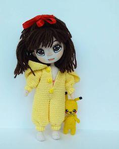 Crochet Doll Pattern, Crochet Dolls, Knit Crochet, Crochet Patterns, Homemade Toys, Doll Tutorial, Little Doll, Stuffed Toys Patterns, Amigurumi Doll