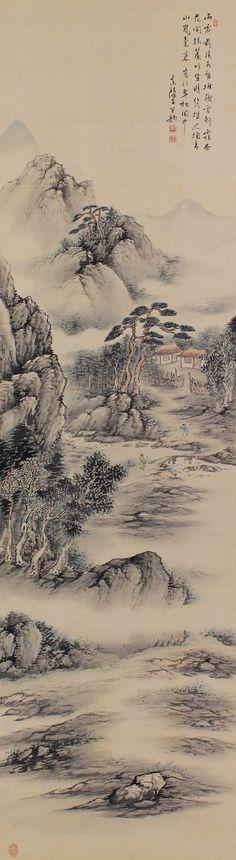 Landscape Sansui by Ochi Toyo(1893-1967).