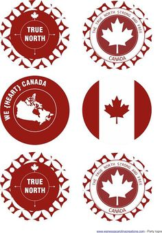 CANADA DAY {FREE PRINTABLES} :: DESIGN REVEAL FRIDAY Canada Day 150, Happy Canada Day, O Canada, Canada Day Crafts, Canada Day Party, Bbq Decorations, Wc Design, Party Logo, Backyard Bbq