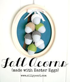 Upcycle those leftover Easter eggs to make this easy and fun Fall craft![media_id:3005592]Last year, I made these crochet-chain Easter Eggs. When I covered ha…