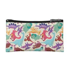 Dinosaurs colorful pattern cosmetics bags http://www.zazzle.com/dinosaurs_colorful_pattern_cosmetics_bags-223517955107215242?rf=238194283948490074&tc=pfz #dinosaurs #colorful #pattern #cosmeticsbags #zazzle