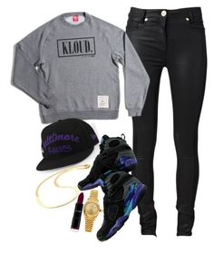 """""""Untitled #637"""" by classick-nyc ❤ liked on Polyvore featuring Versace, CO and Rolex"""