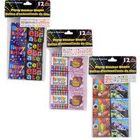 Party Stickers Fun Packs, 12-ct. Packs