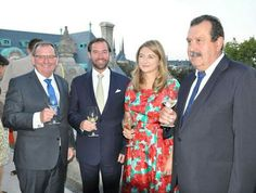 Hereditary Grand Duke Guillaume and Hereditary Grand Duchess Stéphanie attended the celebration of the 50th anniversary of the (OPVI) Organisation Professionelle des Vignerons Indépendants at the Wine Museum in Ehnen, Luxembourg.