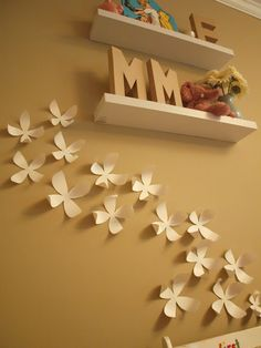 DIY Umbra wallflowers made from posterboard