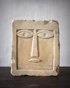 "moodboardmix: "" Anthropomorphic Rectangular Stele. 2nd B.C. - 1st century A.D. South Arabia. Alabaster. 21,50 x 19 cm. Axel Vervoordt. http://moodboardmix.tumblr.com/archive """