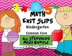 This assessment mega pack includes 140 exit slips covering all the kindergarten math common core standards!  Use these quick, formative assessments to identify what standards students have mastered and where they may need additional support.  They are the perfect progress monitoring tool to guide your instruction!