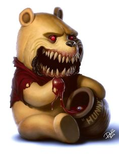 Winnie The Pooh [as a monster] (As Monsters by DcTattoo_Swe @Instagram) #WinnieThePooh