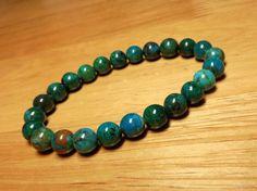 Natural Chrysocolla Bracelet -Turquoise Bracelet, Chrysocolla Jewelry, Azurite Bracelet, Stone Bracelet, Blue Gemstone Bracelet Cyan Adulite