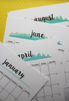 Cheer FREE printable 2017 calendar planner new version Diy Calendar, Printable Calendar Template, Printable Planner, Free Printables, 2016 Calendar, Monthly Calendars, Creative Calendar, To Do Planner, 2017 Planner