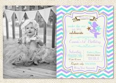 Mermaid Birthday Invitations by LollipopPrints.  Without the picture though.