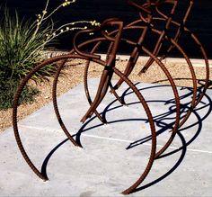 bike rack art | Bicycle Rack Photograph - Bicycle Rack Fine Art Print