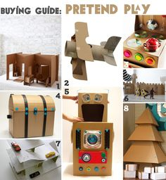buying guide: cardboard pretend play (with links)