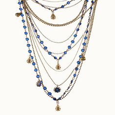 Check out the deal on Vintage Gatsby Necklace - Blue at bCharming