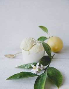 LEMON FLOWER ICE CRE
