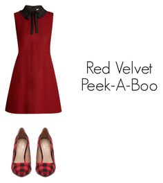 """Red Velvet, Peek-A-Boo"" by pantsulord on Polyvore featuring RED Valentino and Mix No. 6"