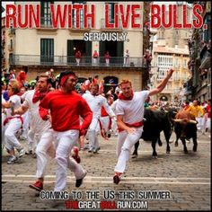 Richmond VA Great Bull Run and Tomato Royale 2013. Yep, no need to go to Spain to Run with the Bulls when Richmond has you covered. Info HERE!