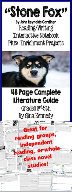 Free Stone Fox Worksheets and Literature Unit for Teachers ...